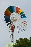 Färgrik windturbin Arkivbilder