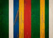 Färgrik wood bakgrund Royaltyfria Bilder