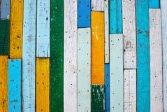 Färgrik wood bakgrund för tappning Arkivbilder