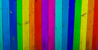 Färgrik wood plankabakgrund Royaltyfri Fotografi