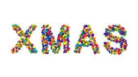 Färgrik Xmas-kortdesign med dekorativ text Royaltyfri Bild