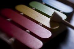 färgrik xylofon Arkivfoto