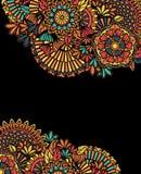 Färgrik zentanglebakgrund Arkivbild