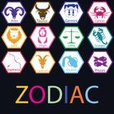 Färgrik zodiak i polygonen Royaltyfria Foton