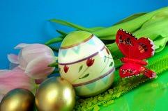 färgrika ägg Arkivfoto
