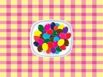 färgrika ägg för choklad Arkivfoto