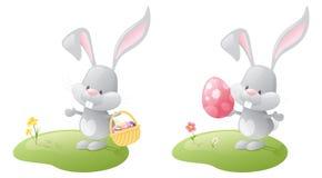 färgrika ägg för kaniner vektor illustrationer