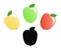 Färgrika äpplen Royaltyfri Bild