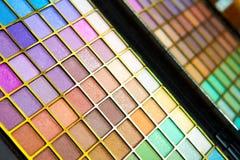 färgrika ögonskuggor Arkivfoton
