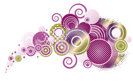 Färgrika abstrakt begreppcirklar Royaltyfria Foton