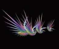 färgrika abstrakt fåglar stock illustrationer