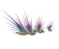 färgrika abstrakt fåglar royaltyfri illustrationer