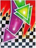 färgrika abstrakt pilar Royaltyfri Bild