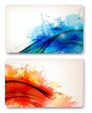 färgrika abstrakt vattenfärgbakgrunder. Royaltyfria Foton