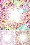 Färgrika abstrakta bakgrundsprickar Arkivbild