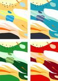 Färgrika abstrakta Digital konster/målningar/bakgrunder/illustrationer royaltyfri bild