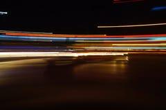 Färgrika abstrakta ljusslingor Fotografering för Bildbyråer