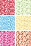 Färgrika abstrakta mosaikbakgrunder. Royaltyfri Fotografi