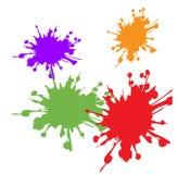 Färgrika abstrakta vattenfärgbakgrunder Arkivbilder
