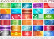 färgrika affärskort Arkivbild