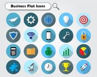 Färgrika affärslägenhetsymboler Arkivfoto