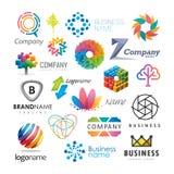 Färgrika affärslogoer Arkivbilder