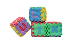 färgrika alfabet royaltyfria foton
