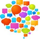 Färgrika anförandebubblor Arkivfoton