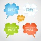 Färgrika anförandebubblor Royaltyfria Bilder