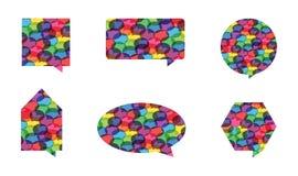 färgrika anförandevektorer för bubbla Arkivfoton