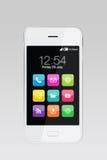 Färgrika apps på smartphonen Royaltyfri Foto
