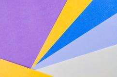 Färgrika ark av färgpapper, abstrakt bakgrund Arkivbilder