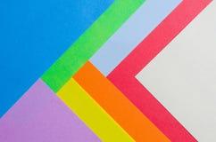 Färgrika ark av färgpapper, abstrakt bakgrund Royaltyfria Foton