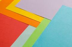 Färgrika ark av färgpapper, abstrakt bakgrund Royaltyfri Fotografi