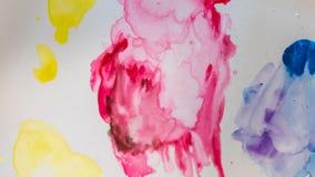 Färgrika Art Paint On Paper fotografering för bildbyråer