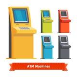 Färgrika ATM-maskiner, terminaler eller informationskiosk royaltyfri illustrationer