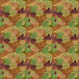 Färgrika Autumn Leaf Seamless Background Pattern Arkivfoton