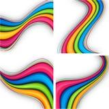 färgrika bakgrunder vektor illustrationer
