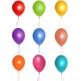 Färgrika ballonger Arkivbild