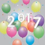 Färgrika ballonger 2017 Arkivbilder