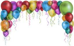 Färgrika ballonger inramar Royaltyfri Bild