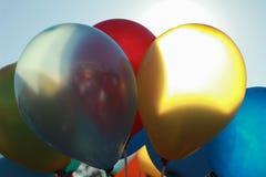 färgrika ballons Fotografering för Bildbyråer