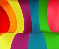 färgrika band för bakgrund Arkivfoto