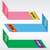 Färgrika baner. vektor illustrationer