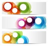 Färgrika baner - cirklar royaltyfri illustrationer