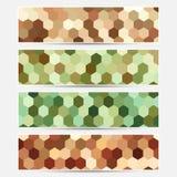 Färgrika baner för vektor Royaltyfri Foto