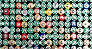färgrika batterier Royaltyfri Fotografi