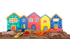 färgrika beachhouses Royaltyfri Fotografi