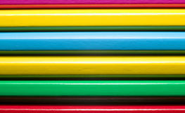 färgrika begreppsutbildningsblyertspennor Royaltyfri Fotografi