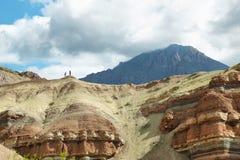 Färgrika berg av Quebrada de las Conchas, Argentina Arkivbild